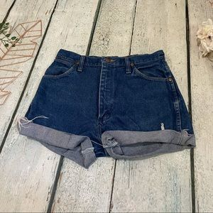 Wrangler 11 cut offs high waisted shorts mom jeans